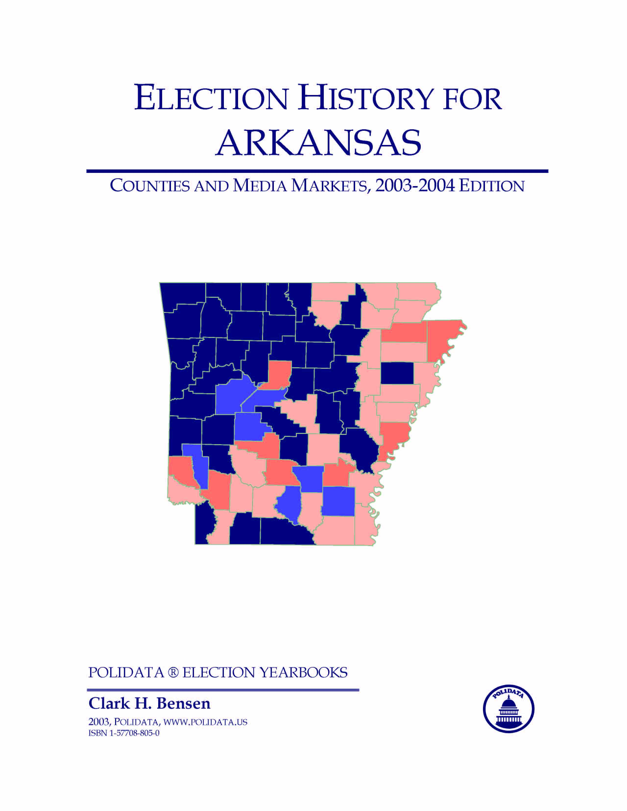 POLIDATA  ARKANSAS ELECTION HISTORY Bibliographic Info